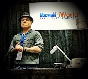 Luis presenting at Macworld 2013