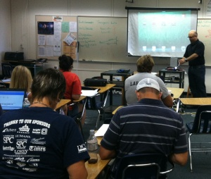 Presenting to a room full of teachers in Pinellas County.
