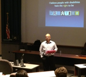 Presenting to VI teachers in Wayne County, Michigan.