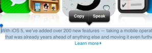 Text selection showing Speak menu option.