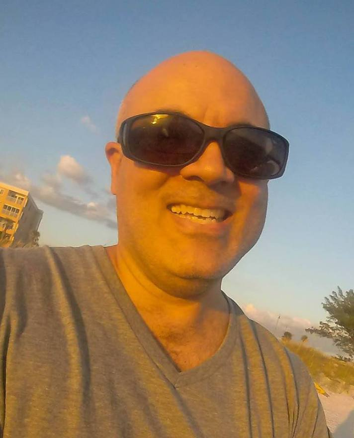 Go Pro selfie taken at the beach in St. Petersburg, Florida.