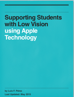 Cover of Supporting Students with Low Vision Using Apple Technology