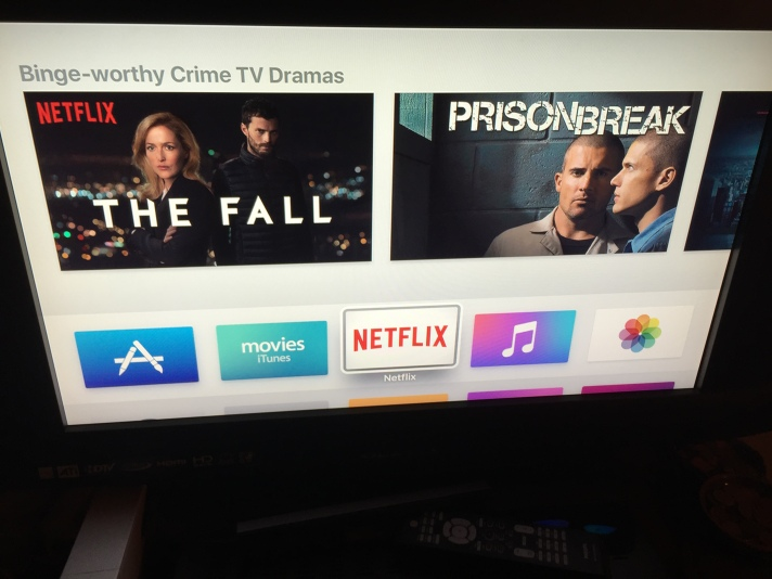 Home screen on 4th generation Apple TV